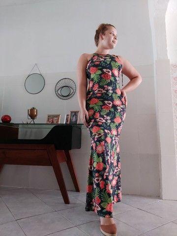 Vestido longo estilo sereia