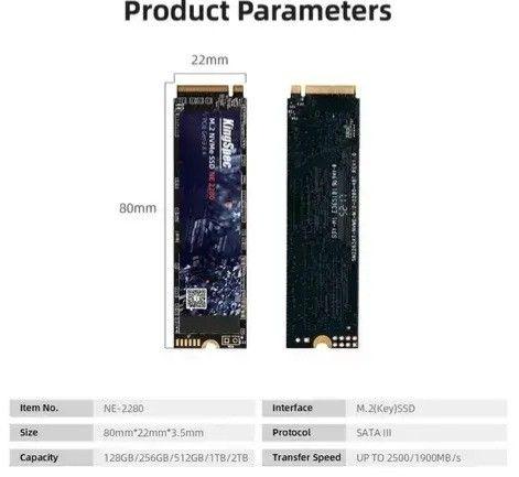SSD M2 128gb, 256gb, 512gb e 1TB KingSpec NVMe PCIe - Entrego e Aceito Cartões - Foto 6