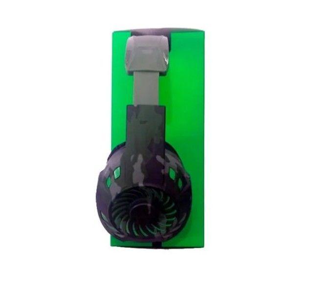 Fone De Ouvido Headset Gamer Tecdrive Px-2 Verde Com Azul - Foto 3