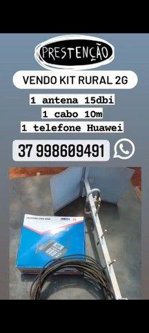 Kit antena rural 2g usado