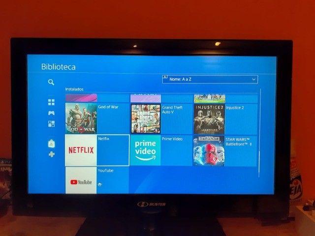 Playstation 4 Slim 1tb com 40 jogos. - Foto 3