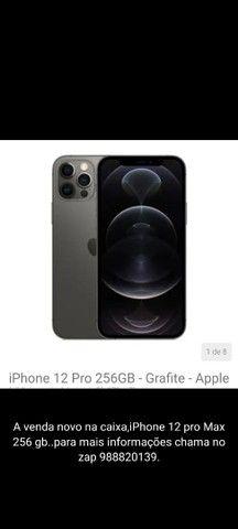 iPhone 12 pro Max 256 gb novo na caixa