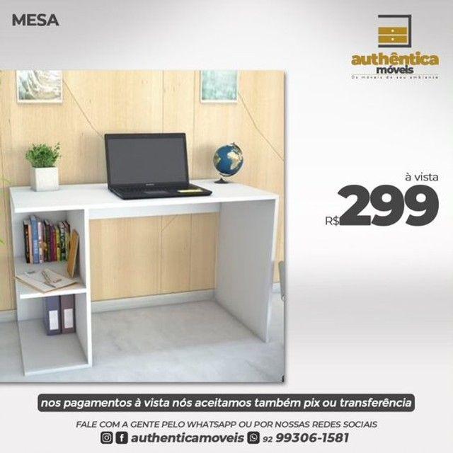 mesa de escritório ou estudo 100% mdf  - Foto 6