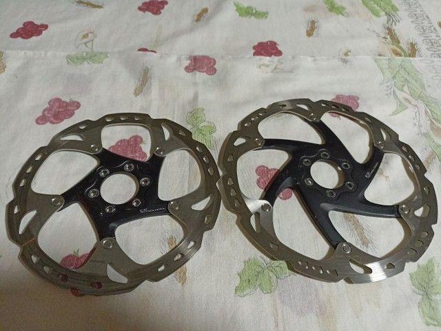 Disco de freio rotor Shimano ICE teck 180 e 203 mm