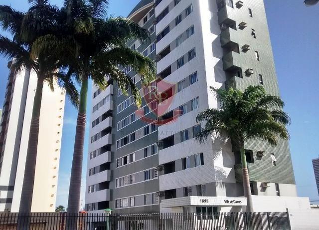 Apt. em Capim Macio c/ 84 m², 2 vagas cobertas, 3 dorms. c/ suíte + dep. empregada e varan