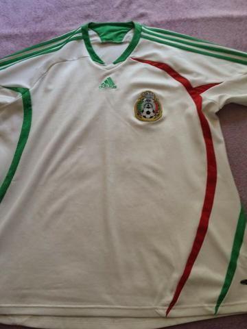 701fe25263ea7 Camisa do México - Tam GG - Original Adidas - Manga 3 4. Ótima