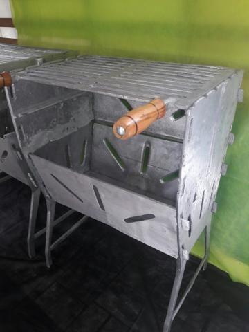 Churrasqueira de aluminio fundidos fechada G