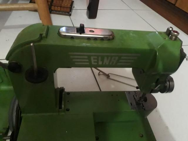 Raridade máquina de costura antiga ELNA completa