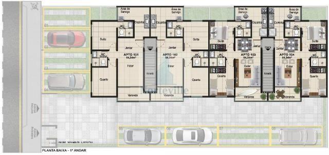 Apartamento à venda com 2 dormitórios em Jardim atlântico, Olinda cod:N04-01 - Foto 3