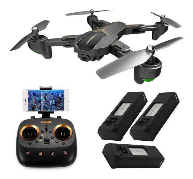 Drone Visuo Gps Wifi 5g Câmera 5mp 1080p C/ 3 Baterias - Foto 4