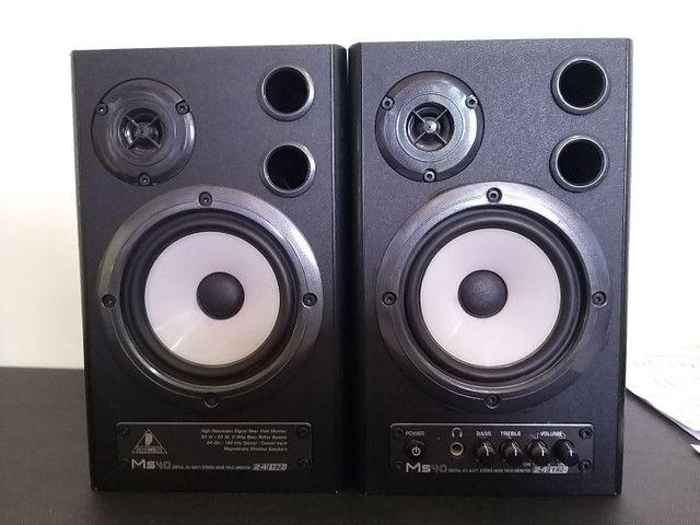 (Par) Monitores de Estúdio Behringer Ms40 - Caixa de som