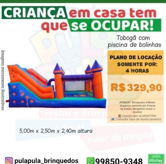 Promoção Aluguel - Tobogã Gigante + Pula Pula 3,66m - Foto 6