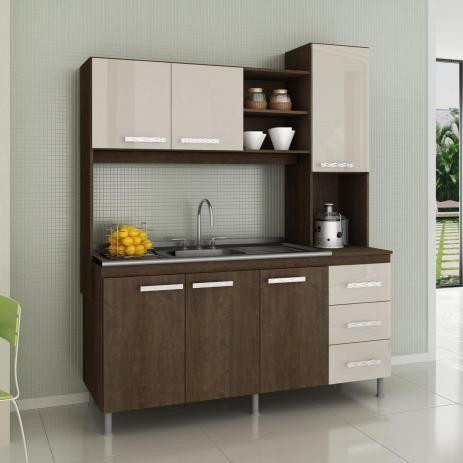 Cozinha compactada mista 1,60