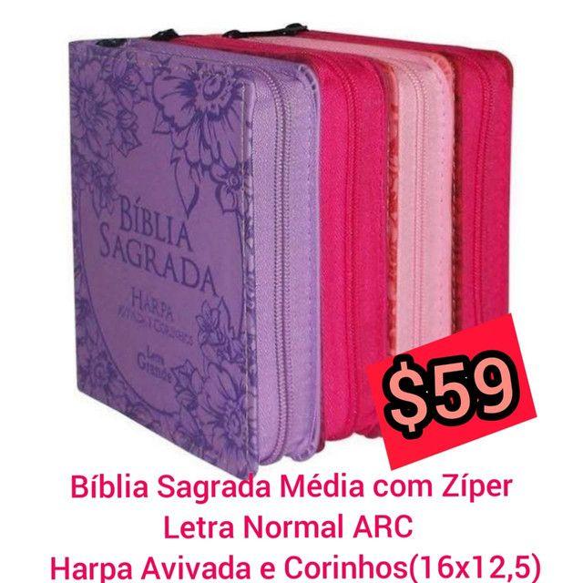 Bíblia com lateral dourada - Foto 2