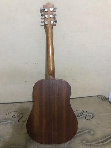 Violão eletroacústico tagima mahogany baby (aço) - Foto 3