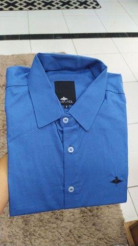 Camisas work preço de fábrica - tamanho 8 - camisas plus size - Foto 5