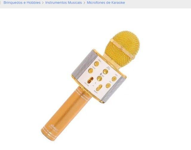 Microfone sem fio Tomate MT-1036 dourado com alto-farlantes