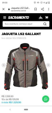 Baratíssimo. Conjunto jaqueta e calça de motociclista LS2 - Foto 5