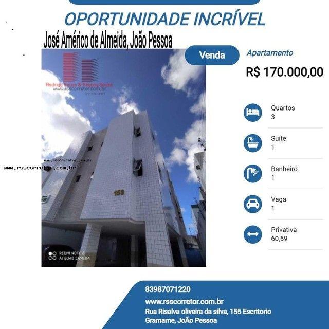 Apartamento para Venda em João Pessoa, José Américo de Almeida, 3 dormitórios, 1 suíte, 1