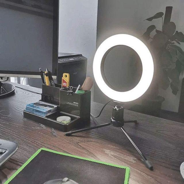 Luz e Iluminador Ring Light 6 Polegadas 36 Led Usb Led Misto Mesa - Foto 5