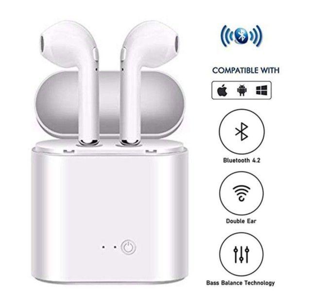 Fone De Ouvido Sem Fio Bluetooth I7 Tws (Android e IOS) - Foto 2