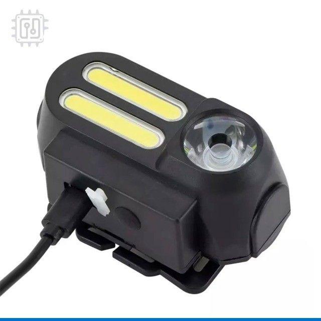 Lanterna Farol para Bicicleta Dianteira Led Bike Lamp Recarregável por USB - 4 Modos - Foto 6