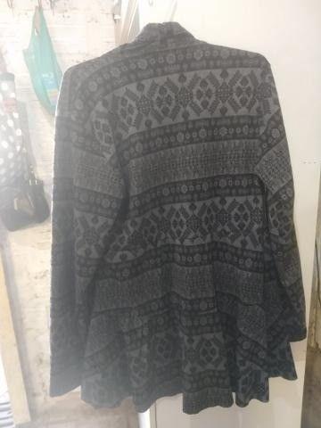 Casaco de lã Batida e Cardigã - Foto 3