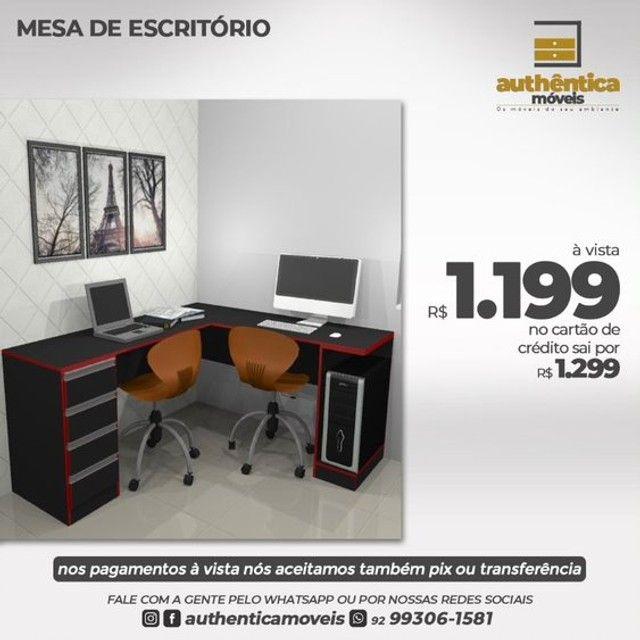 mesa de escritório ou estudo 100% mdf  - Foto 4