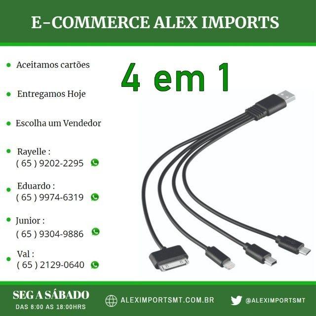 cabo para celular 4 em 1 muito util flexivel de alta qualidade
