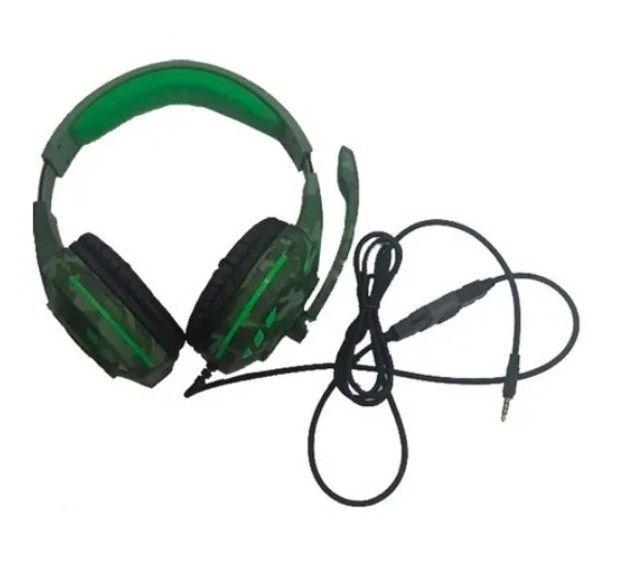 Fone De Ouvido Headset Gamer Tecdrive Px-2 Verde Com Azul - Foto 4