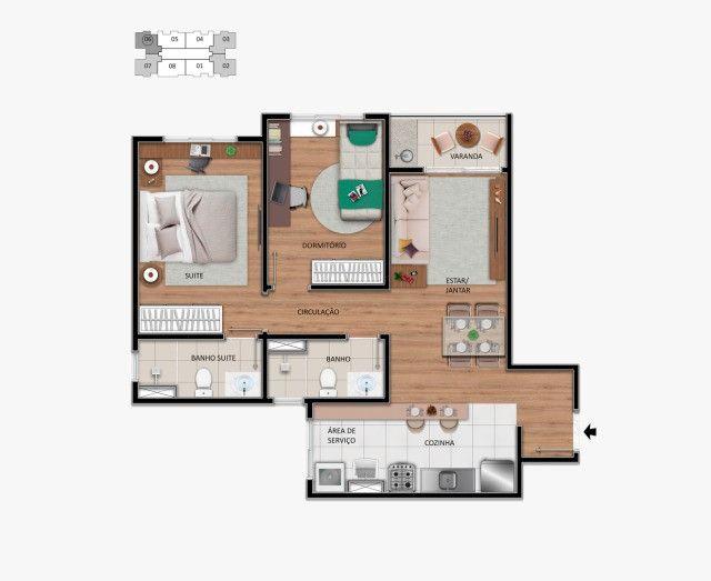 Lindo Apartamento no centro de Hortolândia, entrada em até 60 meses.  - Foto 7