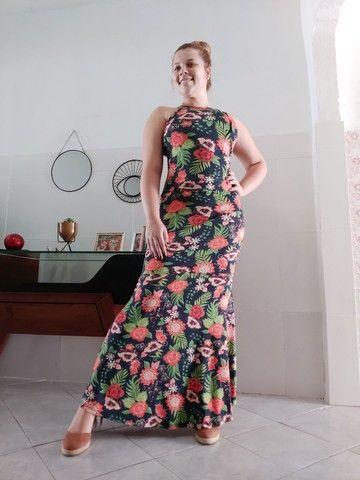Vestido longo estilo sereia - Foto 5