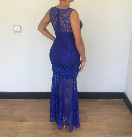 Vestido de festa azul olx