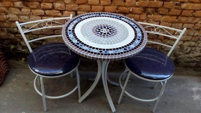 Conjunto Mesa Bistro mosaico - Foto 5