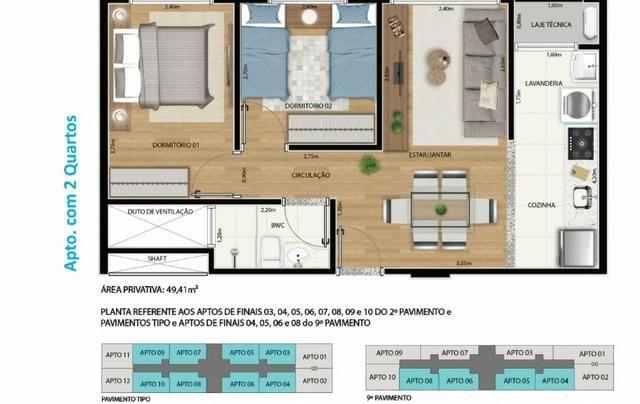 Apartamento 2 qts 50m2 * com desconto na entrada - Foto 7