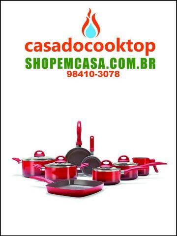 e5bc55d4e Jogo de Panelas 8 Peças - Ceramic Life Smart Plus - Vermelho - Vermelho  Brinox