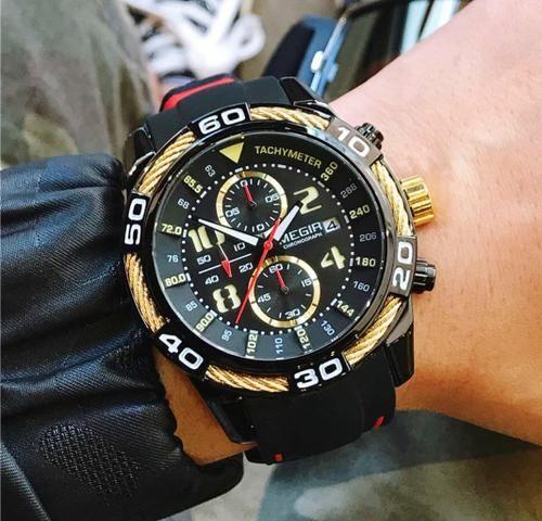 Relógio Original Multifuncional MEGIR - Foto 5