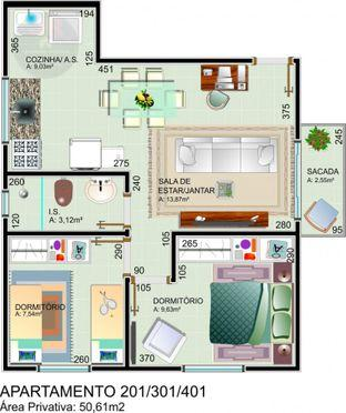 Apartamento à venda com 2 dormitórios em Jardim palmital, Colombo cod:AP216 - Foto 2