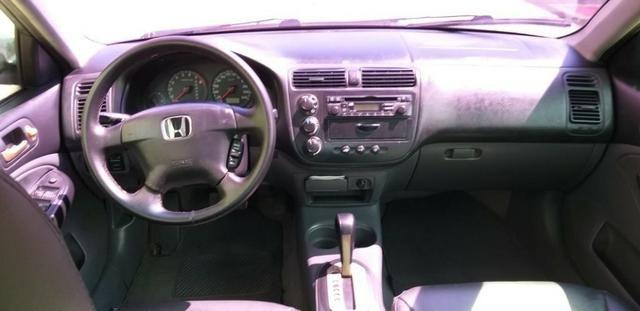 Honda Civic LX 1.7 Completo 2001/2001 R$11.800,00 Parcelo no Cartão de Credito - Foto 2