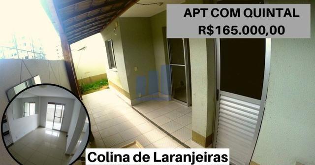 JG. Apartamento de 2 quartos com quintal em Colina de Laranjeiras