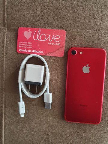 IPhone 7 128gb red ou gold grátis película e case aceitamos cartão