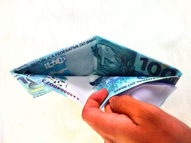 Carteira Masculina Estampa Dinheiro - Foto 2