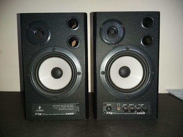 (Par) Monitores de Estúdio Behringer Ms40 - Caixa de som - Foto 4