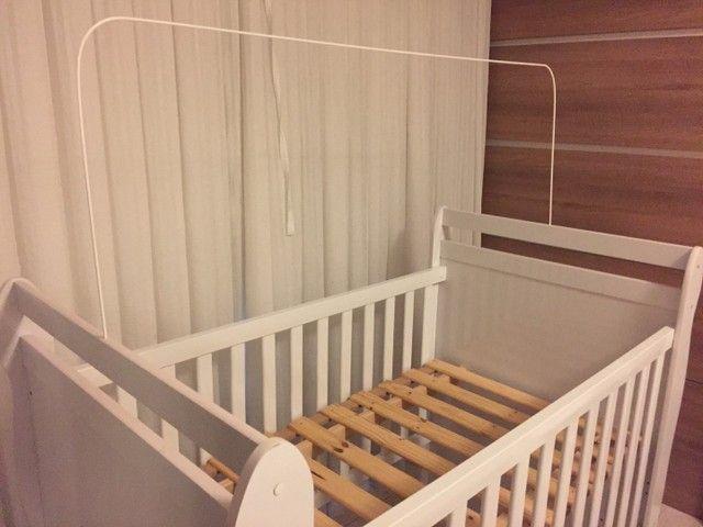 Berço mini cama branco com colchão  - Foto 3