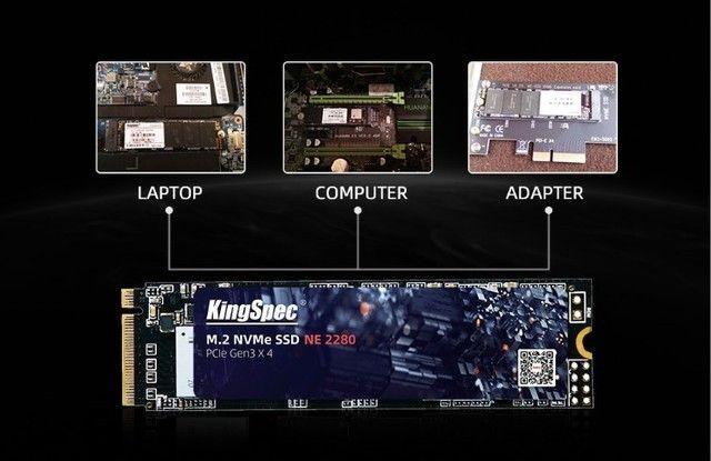 SSD M2 128gb, 256gb, 512gb e 1TB KingSpec NVMe PCIe - Entrego e Aceito Cartões - Foto 4