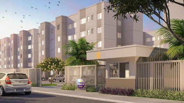 Apartamento com 2 dormitórios sendo 1 suíte reversível à venda, 42 m² por R$ 143.635 - Tam - Foto 10