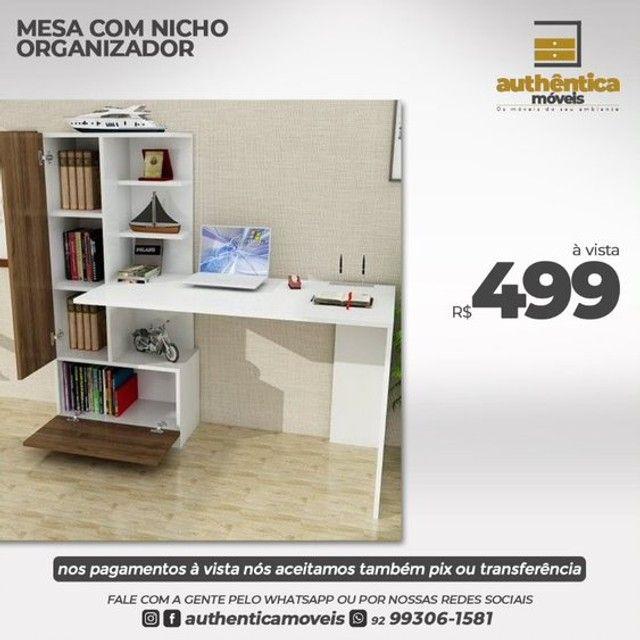 mesa de escritório ou estudo 100% mdf  - Foto 5