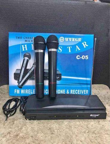 Kit 2 Microfones Sem Fio, Igreja, Mercado, Karaokê A Pronta Entrega