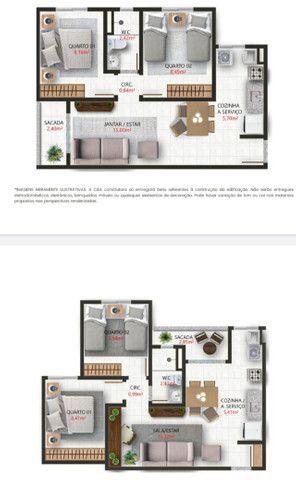 Lançamento aptos de 2 quartos 50m² com sacada e elevador - Foto 5