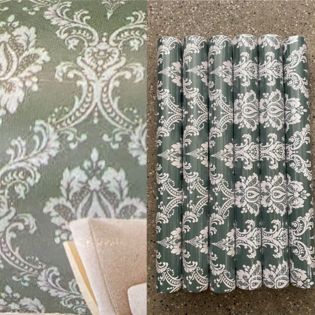 Para decorar sua sala com adesivo papel parede lindo com fundo verde